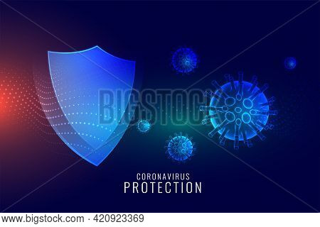 Coronavirus Protection Shield For Good Immune System
