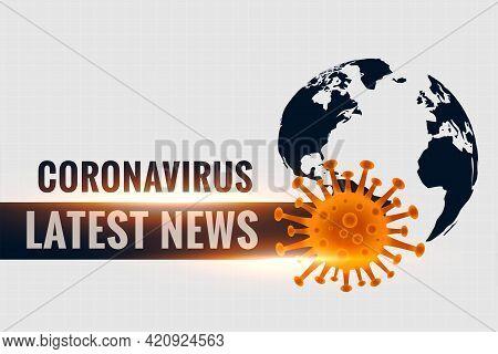 Coronavirus Covid19 Latest Stats And News Background