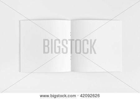 Blank opened Magazine isolated on White Background