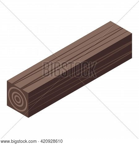 Plywood Timber Icon. Isometric Of Plywood Timber Vector Icon For Web Design Isolated On White Backgr