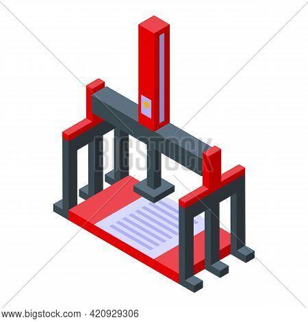 Press Machine Technology Icon. Isometric Of Press Machine Technology Vector Icon For Web Design Isol