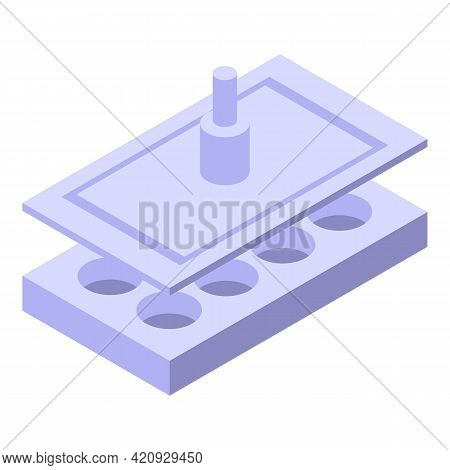 Milling Press Machine Icon. Isometric Of Milling Press Machine Vector Icon For Web Design Isolated O