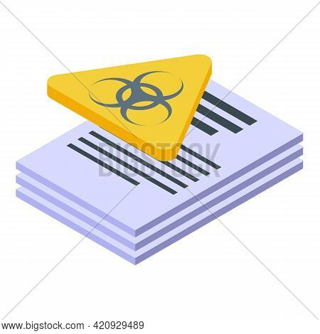 Malware Documents Icon. Isometric Of Malware Documents Vector Icon For Web Design Isolated On White
