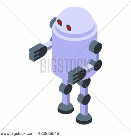 Malware Robot Icon. Isometric Of Malware Robot Vector Icon For Web Design Isolated On White Backgrou