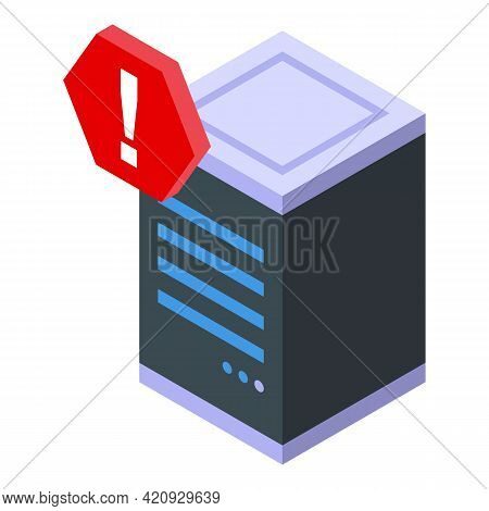 Malware Server Icon. Isometric Of Malware Server Vector Icon For Web Design Isolated On White Backgr