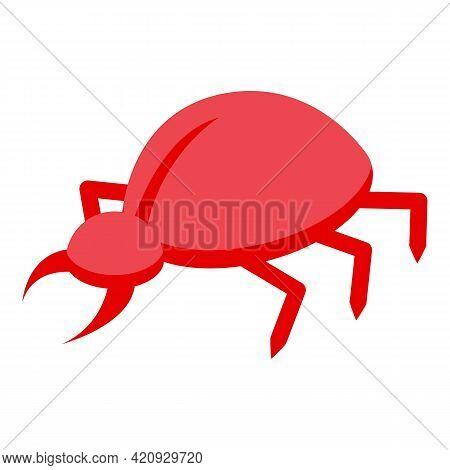 Malware Bug Icon. Isometric Of Malware Bug Vector Icon For Web Design Isolated On White Background