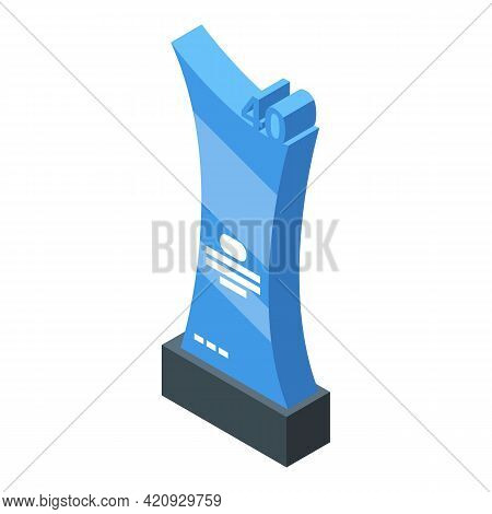 Winner Prize Icon. Isometric Of Winner Prize Vector Icon For Web Design Isolated On White Background