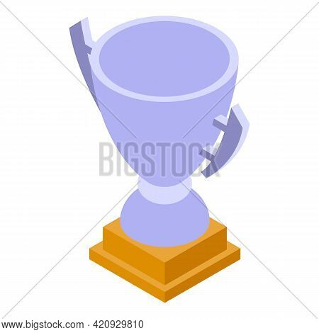 Awarding Cup Icon. Isometric Of Awarding Cup Vector Icon For Web Design Isolated On White Background