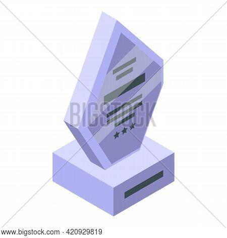 Reward Prize Icon. Isometric Of Reward Prize Vector Icon For Web Design Isolated On White Background