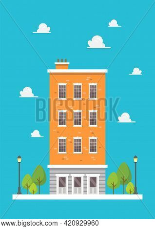 Apartment In Flat Style Design. Vector Illustration