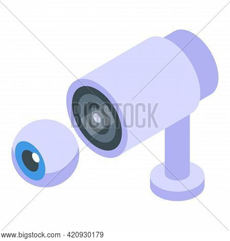 Camera Password Protection Icon. Isometric Of Camera Password Protection Vector Icon For Web Design