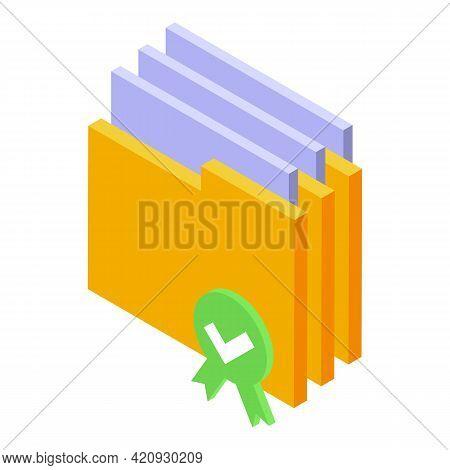 Folder Password Protection Icon. Isometric Of Folder Password Protection Vector Icon For Web Design