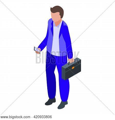 Successful Career Businessman Icon. Isometric Of Successful Career Businessman Vector Icon For Web D