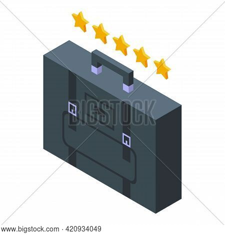 Successful Career Briefcase Icon. Isometric Of Successful Career Briefcase Vector Icon For Web Desig