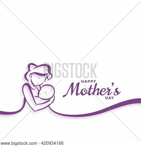 Happy Mothers Day Mom And Baby Love Background