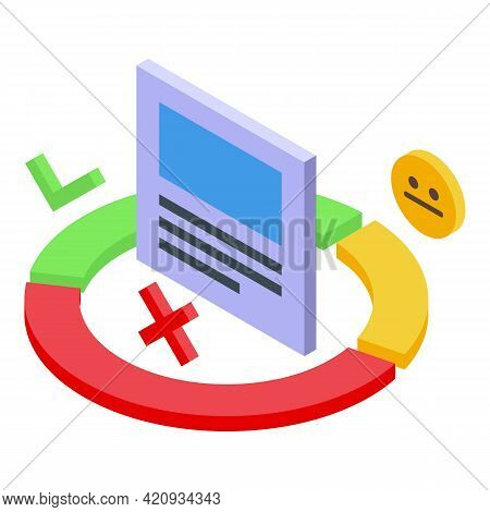 Successful Campaign Pie Chart Icon. Isometric Of Successful Campaign Pie Chart Vector Icon For Web D