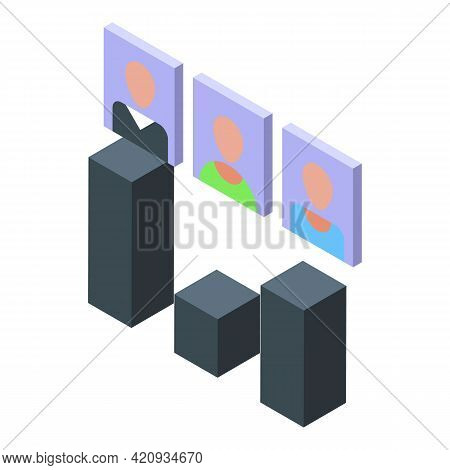 Democracy Ballot Icon. Isometric Of Democracy Ballot Vector Icon For Web Design Isolated On White Ba