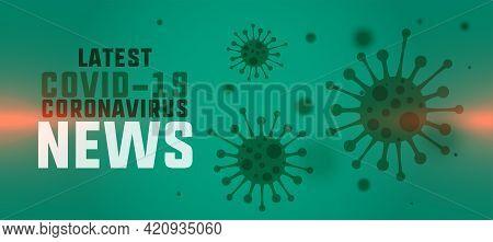 Novel Coronavirus Latest News And Updates Banner Concept