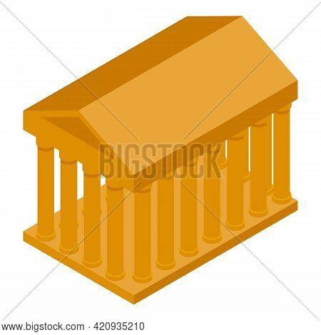 Democracy Building Icon. Isometric Of Democracy Building Vector Icon For Web Design Isolated On Whit