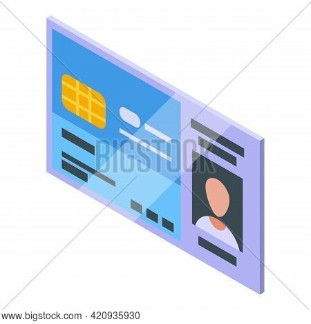 Electronic Patient Card Icon. Isometric Of Electronic Patient Card Vector Icon For Web Design Isolat