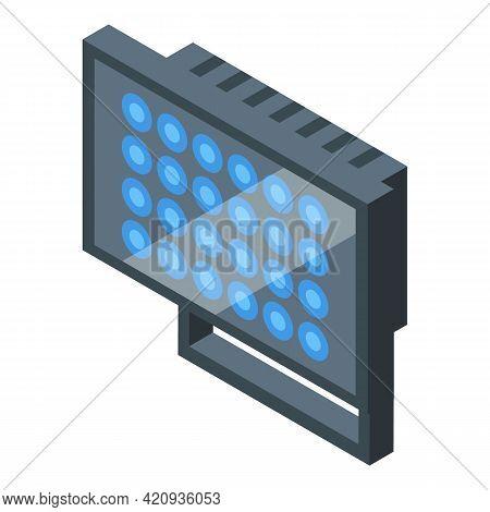 Led Uv Lamp Icon. Isometric Of Led Uv Lamp Vector Icon For Web Design Isolated On White Background