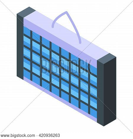 Uv Lamp Wall Icon. Isometric Of Uv Lamp Wall Vector Icon For Web Design Isolated On White Background