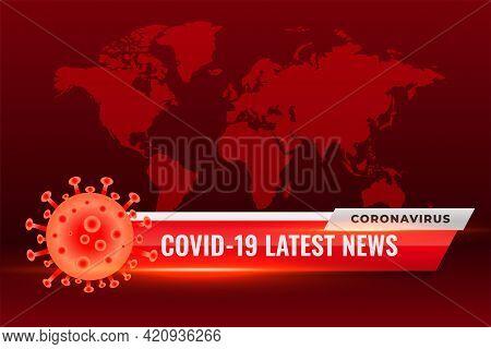 Covid19 Coronavirus Latest News Updates Red Background