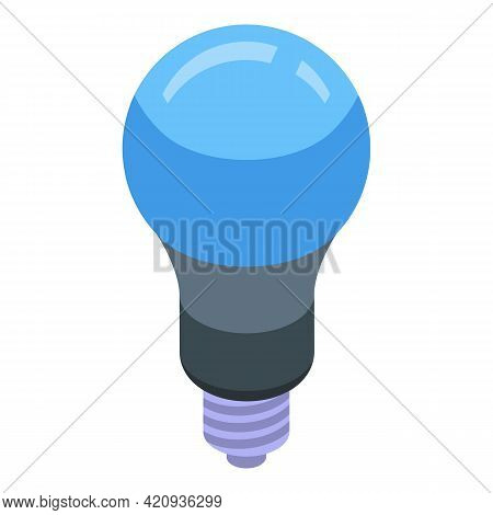 Uv Lamp Bulb Icon. Isometric Of Uv Lamp Bulb Vector Icon For Web Design Isolated On White Background