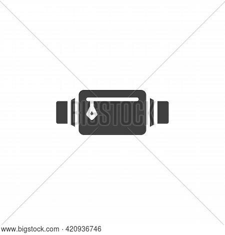 Waist Bag Vector Icon. Filled Flat Sign For Mobile Concept And Web Design. Belt Bag, Fanny Pack Glyp