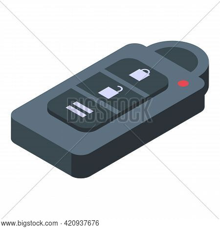 Smart Car Key Driver Icon. Isometric Of Smart Car Key Driver Vector Icon For Web Design Isolated On
