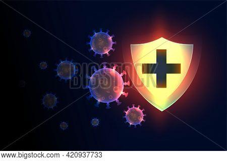 Immune System Medical Shield Protection Stopping Corona Virus
