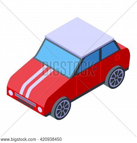Buying Mini Car Icon. Isometric Of Buying Mini Car Vector Icon For Web Design Isolated On White Back