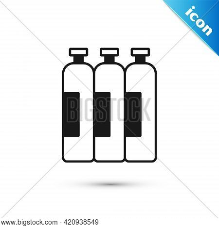 Grey Industrial Gas Cylinder Tank For All Inert And Mixed Inert Gases Icon Isolated On White Backgro