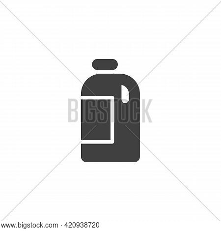 Gallon Of Milk Vector Icon. Filled Flat Sign For Mobile Concept And Web Design. Milk Bottle Glyph Ic
