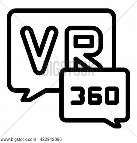 Augmented Reality Icon. Outline Augmented Reality Vector Icon For Web Design Isolated On White Backg