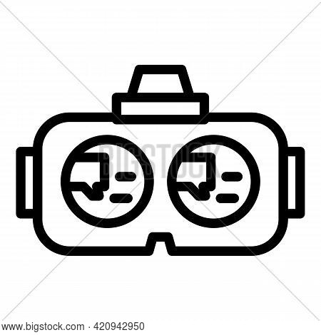 Virtual Headset Icon. Outline Virtual Headset Vector Icon For Web Design Isolated On White Backgroun