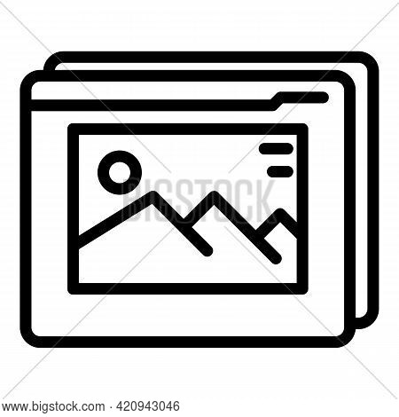 Virtual Multimedia Reality Icon. Outline Virtual Multimedia Reality Vector Icon For Web Design Isola