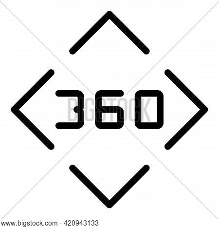 Virtual Reality System Icon. Outline Virtual Reality System Vector Icon For Web Design Isolated On W