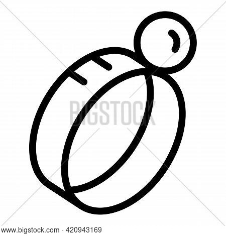 Virtual Reality Project Icon. Outline Virtual Reality Project Vector Icon For Web Design Isolated On