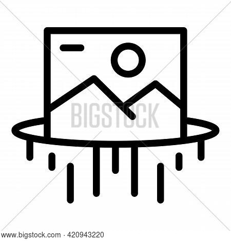 Virtual Reality Simulation Icon. Outline Virtual Reality Simulation Vector Icon For Web Design Isola