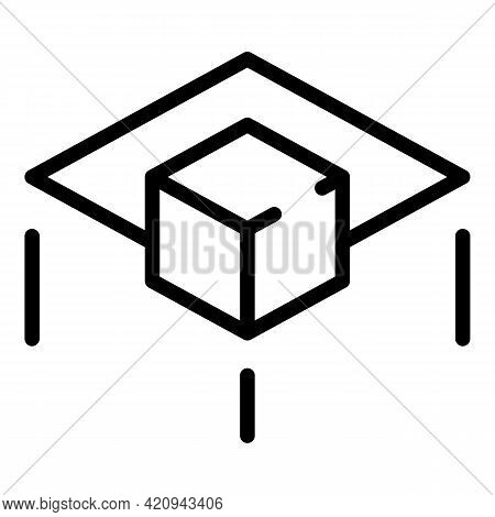 Vr Entertainment Icon. Outline Vr Entertainment Vector Icon For Web Design Isolated On White Backgro