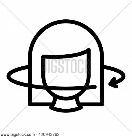 Data Virtual Reality Icon. Outline Data Virtual Reality Vector Icon For Web Design Isolated On White