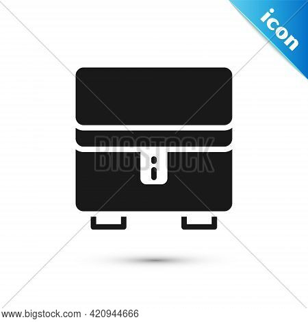 Grey Jewelry Box Icon Isolated On White Background. Casket With Jewelry. Vector