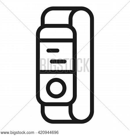 Tracking Bracelet Icon. Outline Tracking Bracelet Vector Icon For Web Design Isolated On White Backg