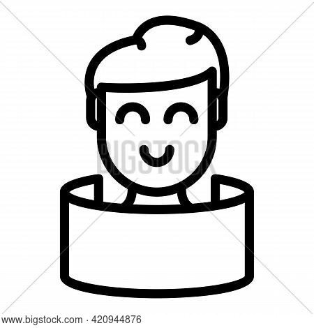 Watching Virtual Reality Icon. Outline Watching Virtual Reality Vector Icon For Web Design Isolated