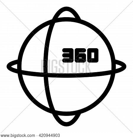 Virtual Reality Sphere Icon. Outline Virtual Reality Sphere Vector Icon For Web Design Isolated On W