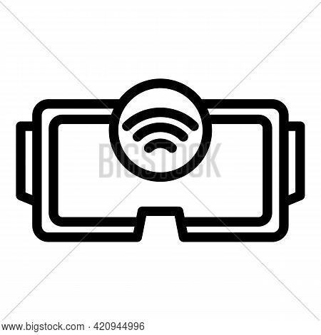 Wireless Headset Icon. Outline Wireless Headset Vector Icon For Web Design Isolated On White Backgro