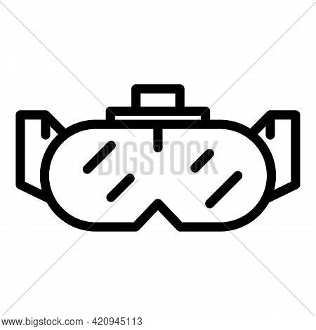 Goggles Mask Icon. Outline Goggles Mask Vector Icon For Web Design Isolated On White Background