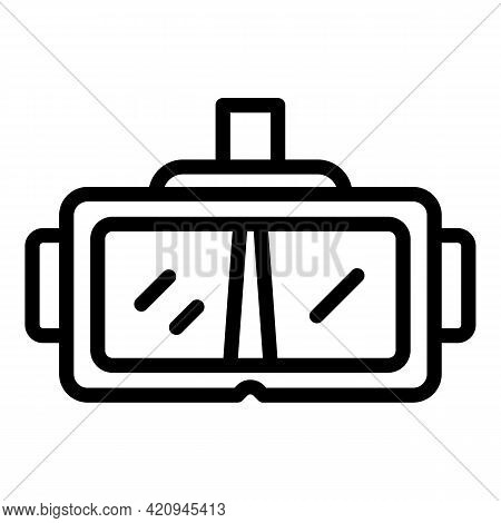 Content Virtual Glasses Icon. Outline Content Virtual Glasses Vector Icon For Web Design Isolated On