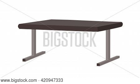 Sport Bench For Gym Or Fitness Club. Metal Furniture, Equipment For Gymnasium. Flat Vector Illustrat